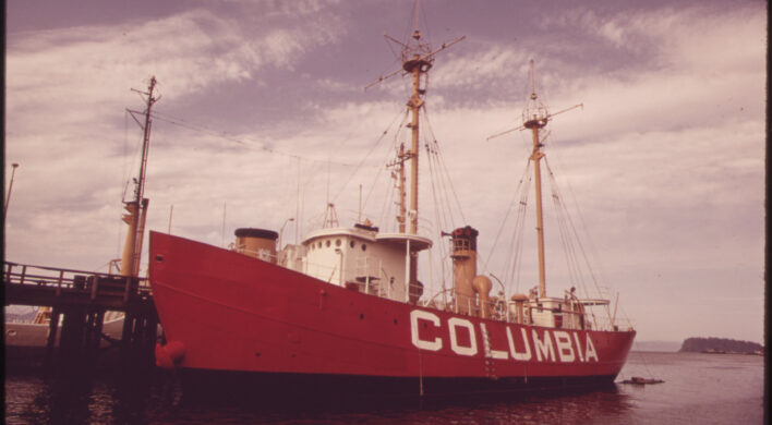 Lightship Columbia at the Mouth of the Columbia River 05/1973